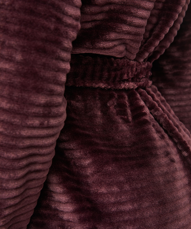 Peignoir court avec fermeture à glissière, Rouge, main