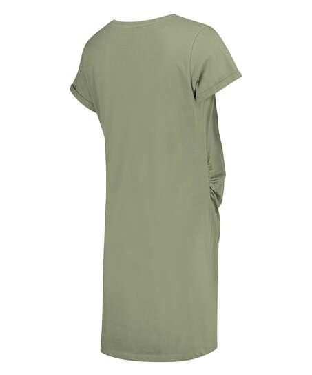 T-shirt de nuit grossesse à manches courtes, Vert