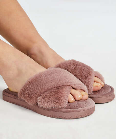 Slippers Velours, Paars