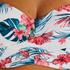 Voorgevormde bandeau bikinitop Vintage, Wit