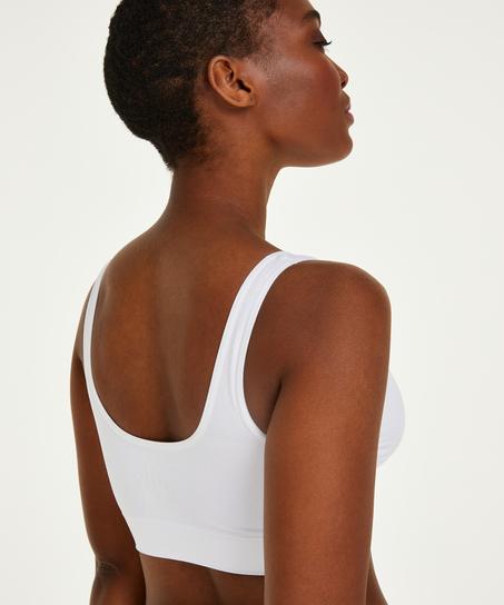 Top basic sans coutures, Blanc
