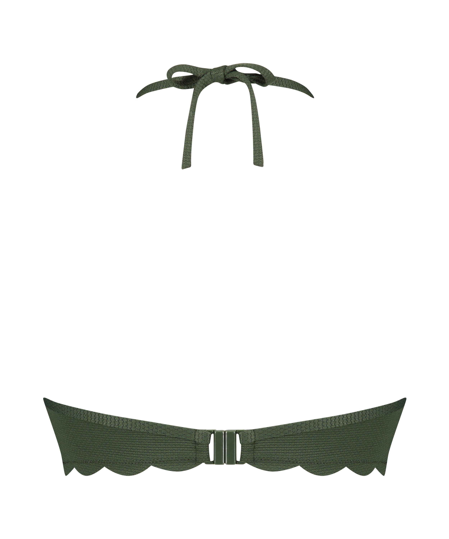 Haut de bikini à armatures à effet push-up préformé Scallop Glam, Vert, main