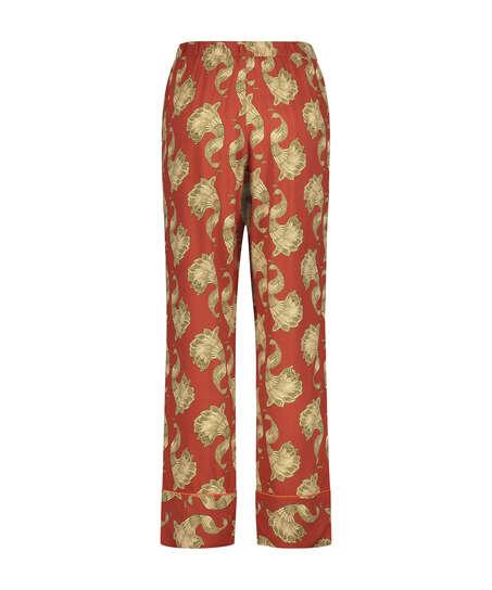 Pantalon de pyjama tissé, Rose