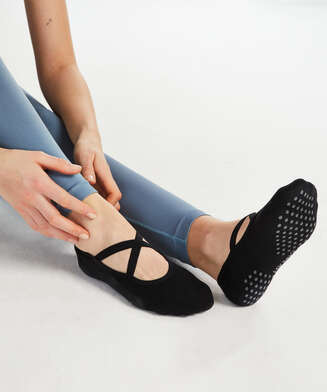 HKMX anti-slip yoga sokken, Zwart