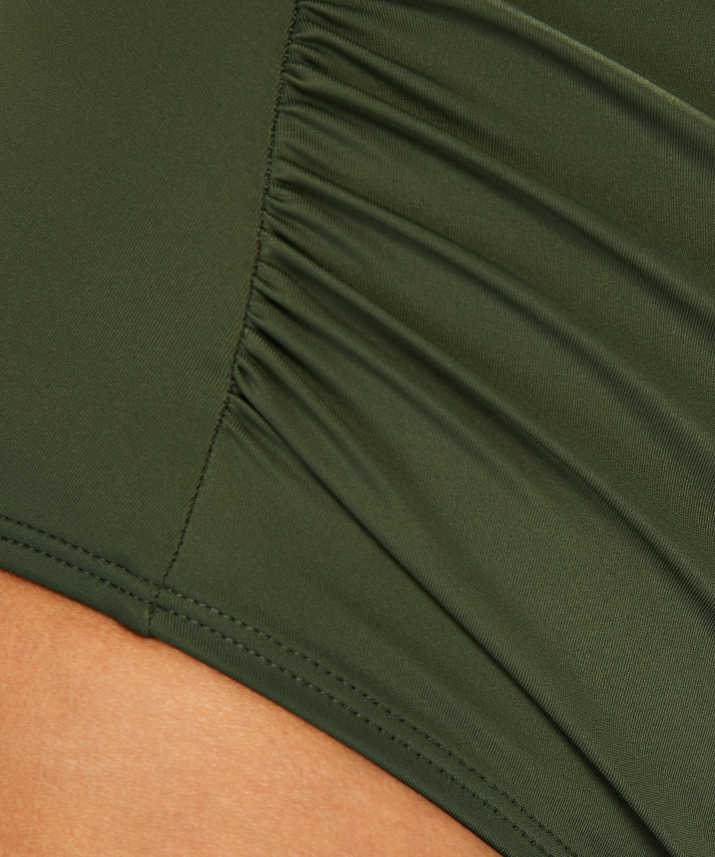 Short de bikini taille haute Luxe, Vert, main