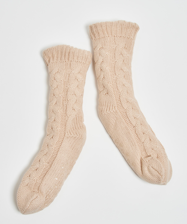 Gebreide Sokken, Wit, main