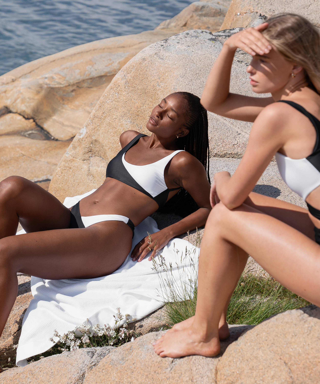 Bikini croptop 2Tone HKM x NA-KD, Wit, main