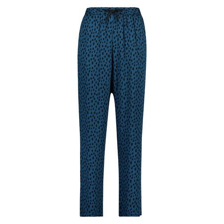Pyjamabroek woven, Blauw