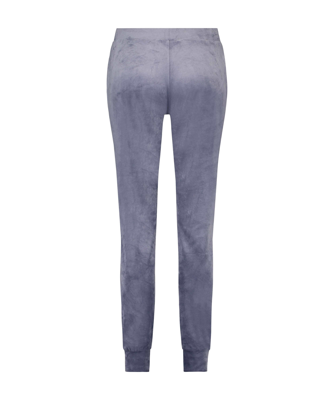 Pantalon de jogging Velours Lurex, Gris, main