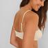 Haut de bikini court Texture HKM x NA-KD, Blanc