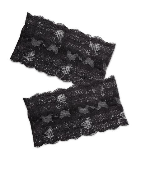 Bandes de cuisses anti-frottements en dentelle, Noir