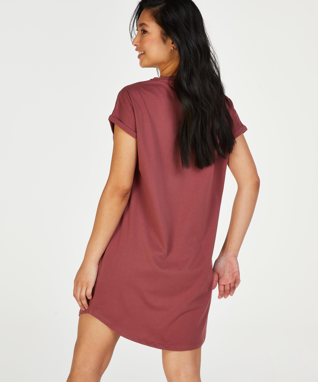 Nachthemd ronde hals, Roze, main
