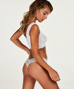 String Invisible Lace back, Blanc