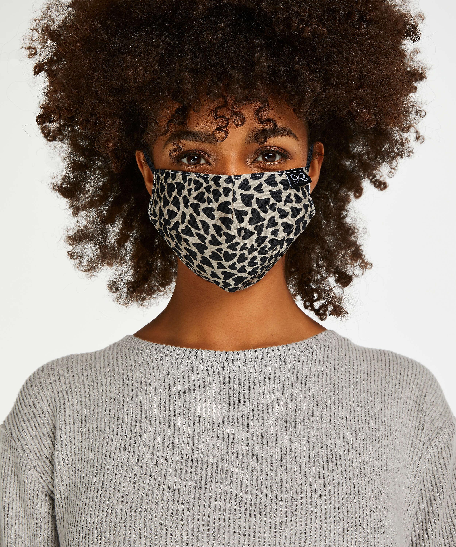 Masque Coton, Brun, main