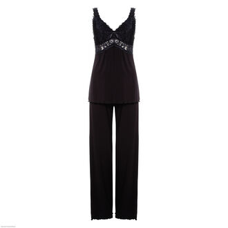 Pyjamaset Modal lace, Noir