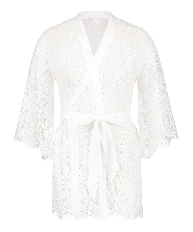 Kimono Lace Isabelle, Blanc, main