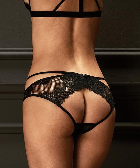 Open Back brazilian Jenny, Zwart