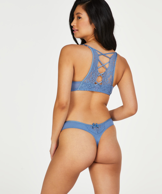 Soutien-gorge à armatures préformé push-up Cardi, Bleu, main