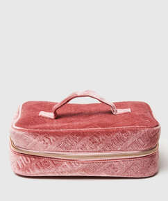 Make-up tas Embossed, Groen