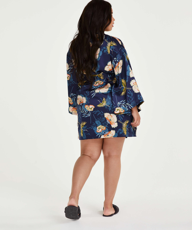 Kimono Lotus Bird, Blauw, main