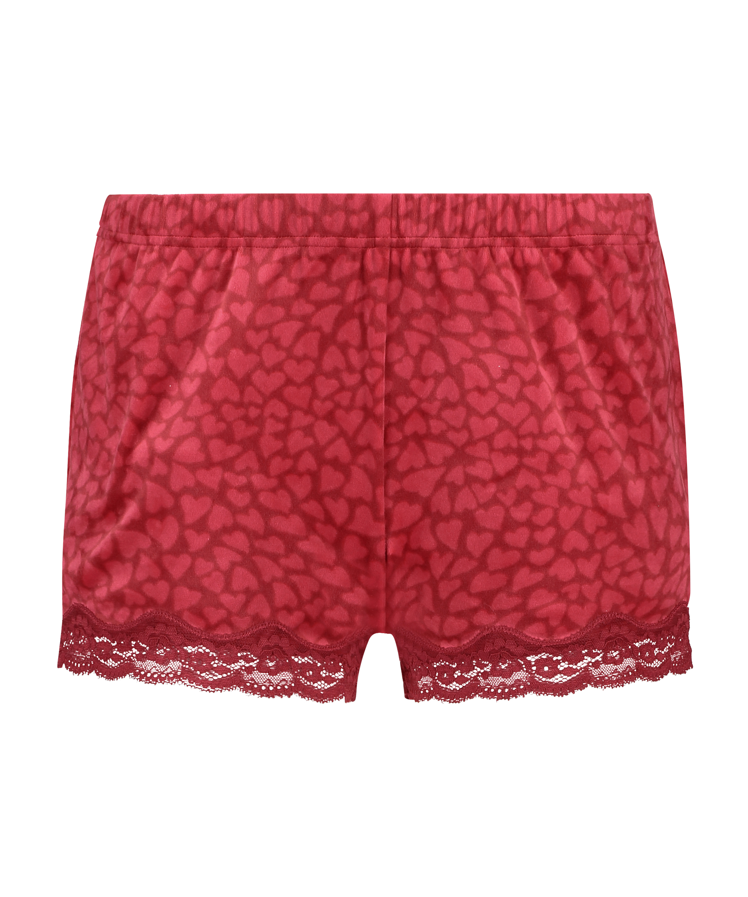 Shorts Velours Lace, Rood, main