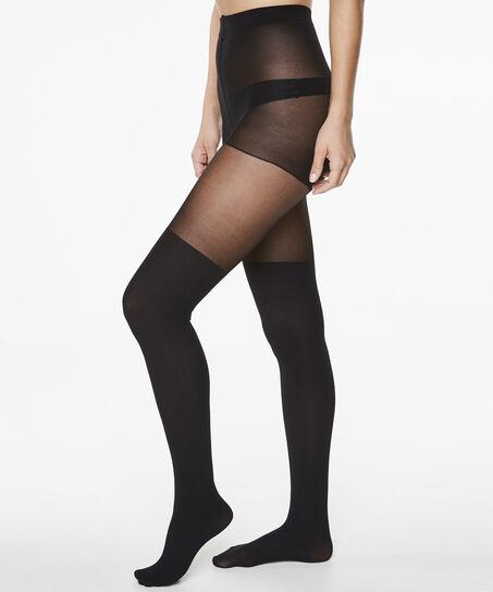 Collant Overknee sock, Noir