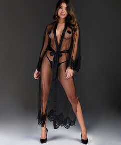 Lange Kimono Cravache, Zwart