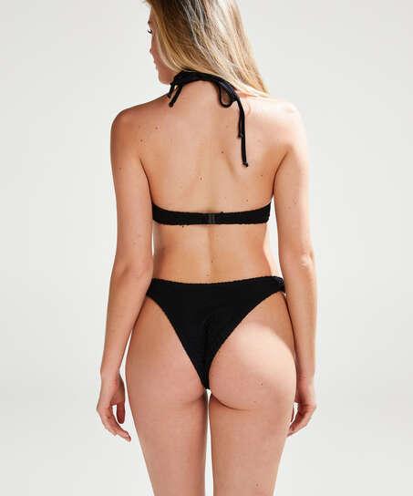 Crochet Bikini push-up Top , Noir