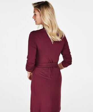 Badjas Modal Lace, Rood