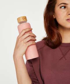 Bouteille d'eau en verre, Rose
