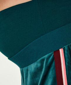 Pantalons de survêtement de maternité en velours, Vert