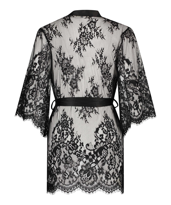 Kimono Lace Isabelle, Zwart, main