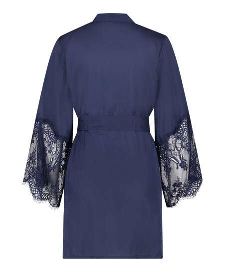 Kimono Satin, Blauw