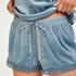Short velours dentelle, Bleu