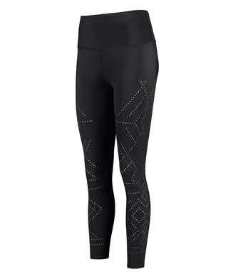 Legging de sport HKMX court Naira taille haute, Noir