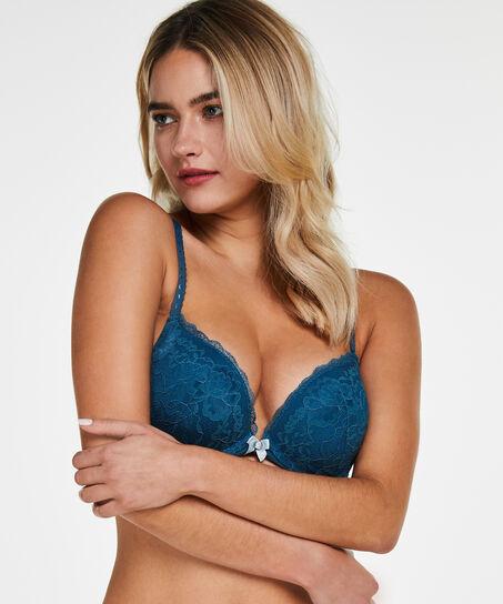 Soutien-gorge à armatures maximiseur préformé Maya, Bleu