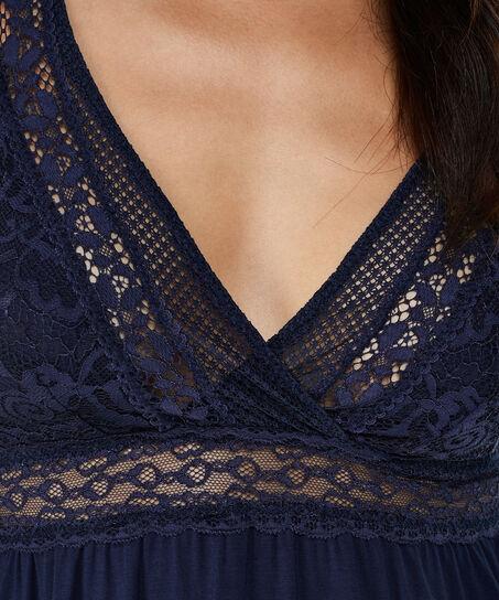 Nuisette Graphic Lace, Bleu