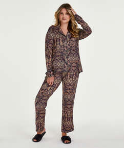 Pyjamaset Paisley, Blauw