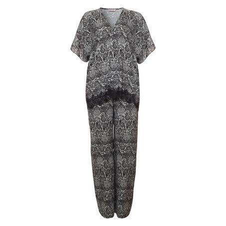 Kimono Macy lace print, Noir