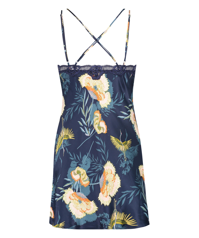 Slipdress Lotus Bird, Blauw, main