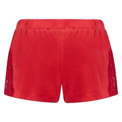 Pyjama short velours, Rood