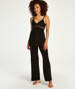 Tenue de pyjama Vera Lace, Noir