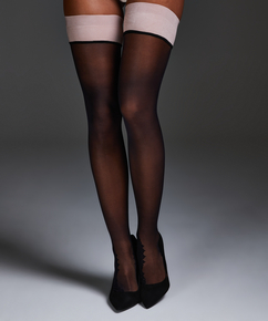 Noir Stay-up Delicate Lace, Roze
