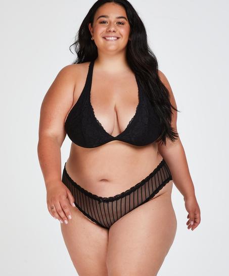 Brazilian V-shape mesh, Zwart