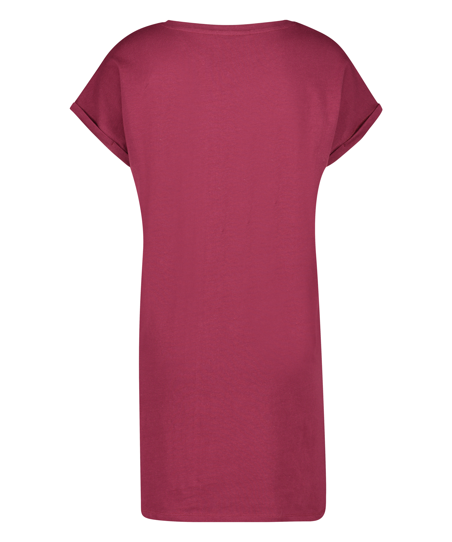 Nachthemd Ronde hals, Rood, main