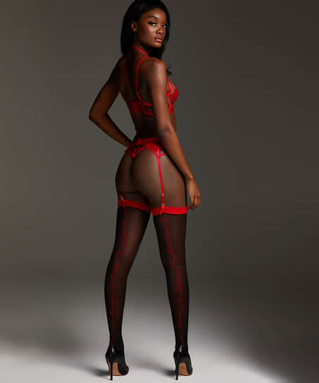 Stocking 15 Denier Private Text, Rood