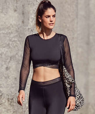 HKMX Crop top, Zwart