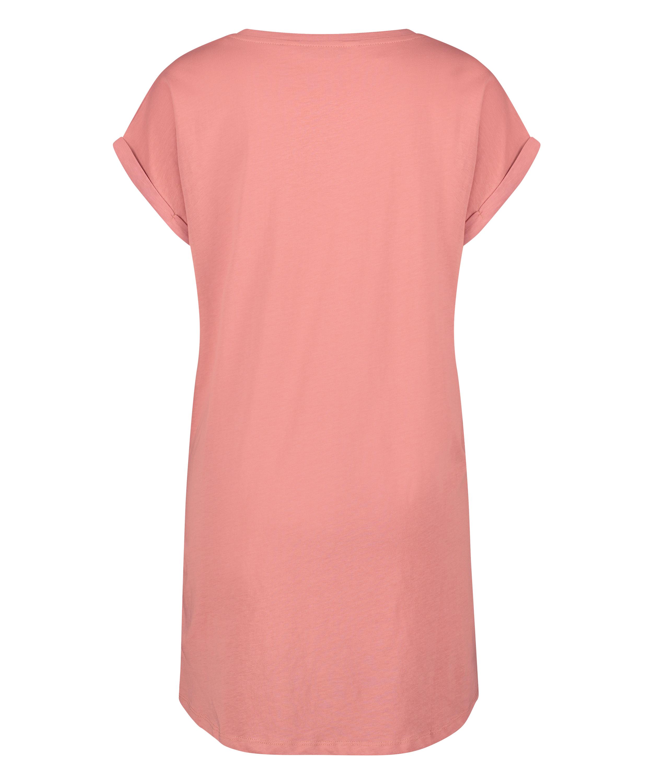 Chemise de nuit à encolure arrondie, Rose, main