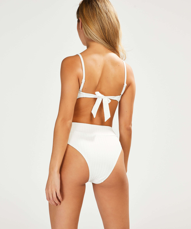 Haut de bikini bandeau préformé Emily, Blanc, main