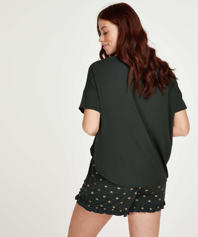 Korte pyjama set, Groen, main